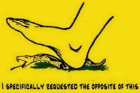 dont_tread_on_me flag foot gadsen humor snake // 540x360 // 49.7KB