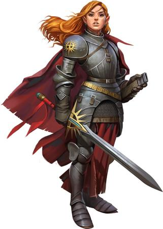 armor blonde cape crossguard gauntlets pauldrons shield sword // 713x1000 // 125.3KB