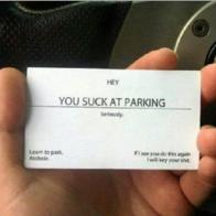awesome card insult parking // 720x720 // 651.8KB