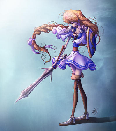 blonde boots braids dress long_hair shield sophitia soul_calibur sword thighhighs // 840x950 // 145.6KB