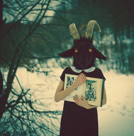 book dress goat horns snow wtf // 500x508 // 88.9KB