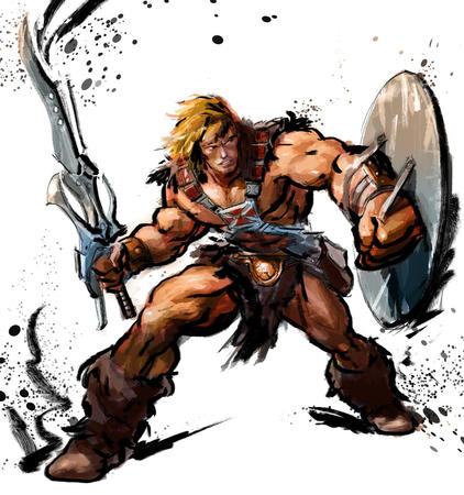 blonde boots he-man shield street_fighter street_fighter_iv sword // 1024x1091 // 257.6KB