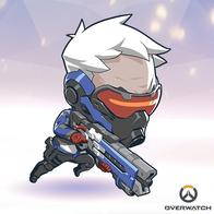 gray_hair jacket mask overwatch rifle solider76 super_deformed // 400x400 // 169.5KB