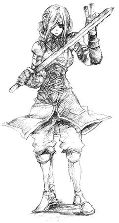 agrias bw fft final_fantasy sketch sword // 355x664 // 25.6KB