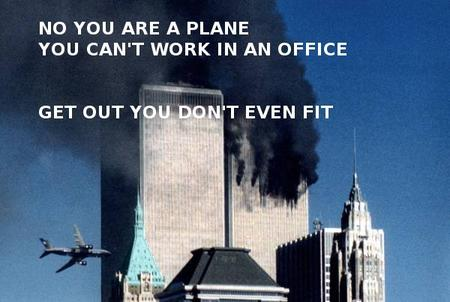 911 airplane humor im_going_to_hell macro wtc // 600x403 // 46.6KB