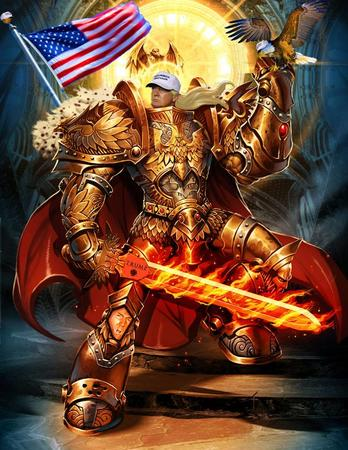 america cape crossguard donald_trump eagle emperor fire flag halo hat pauldrons sword wh40k // 734x950 // 144.9KB