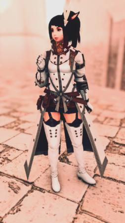 Adelina_Wyght FFXIV boots braids brunette coat gloves long_hair miqote paladin ponytail screenshot short_skirt skirt // 1080x1920 // 3.5MB