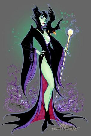 boots cleavage crow gown maleficent scott_campbell staff // 600x890 // 67.5KB