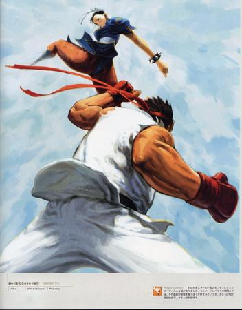 artbook capcom chun-li gi gloves headband high_res ryu street_fighter // 2000x2560 // 671.0KB