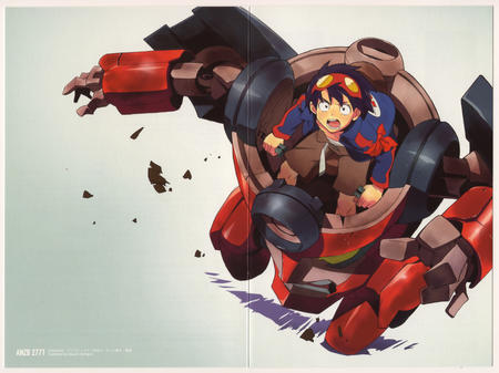 goggles gurren_lagann high_res jacket mecha simon // 5779x4329 // 8.4MB