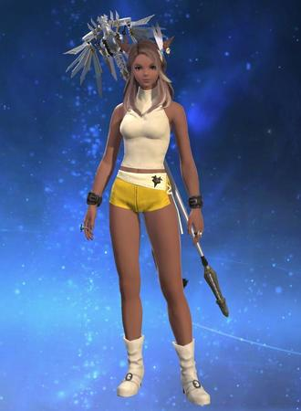 Adelina_Wyght FFXIV boots dbg miqote short_shorts shorts white_mage // 640x873 // 43.9KB