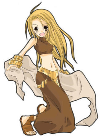 blonde brown_eyes dancer fft final_fantasy long_skirt sandals skirt veil // 371x500 // 35.2KB
