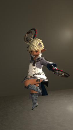 Adelina_Wyght FFXIV blonde boots dancer lalafell screenshot // 1080x1920 // 1.2MB