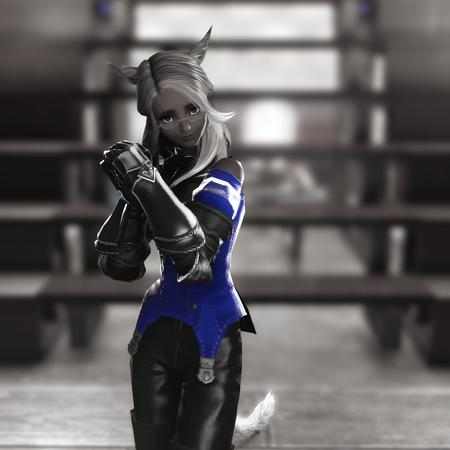 Adelina_Wyght FFXIV blonde gauntlets glasses miqote pretty_please screenshot // 1080x1080 // 841.4KB