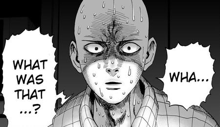 bw manga one_punch_man pajamas reaction saitama sweat wtf // 800x462 // 115.4KB