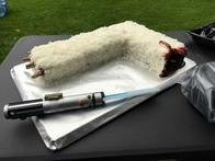awesome cake lightsaber star_wars wampa // 600x450 // 32.1KB