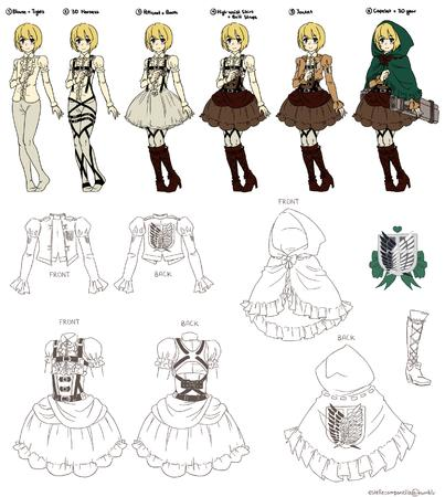 attack_on_titan blue_eyes boots cape composite dress gloves hood jacket skirt // 2450x2734 // 1.6MB