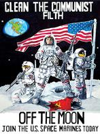 america flag moon propaganda rifle space_marines spacesuit // 773x1033 // 297.9KB