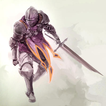 armor crossguard falchion gauntlets helmet knight sketch sword // 1280x1283 // 322.1KB