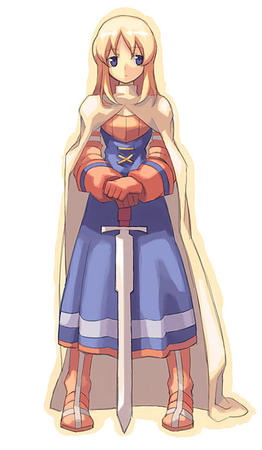blonde blue_eyes boots dress fft final_fantasy gloves knight sword // 408x700 // 46.8KB