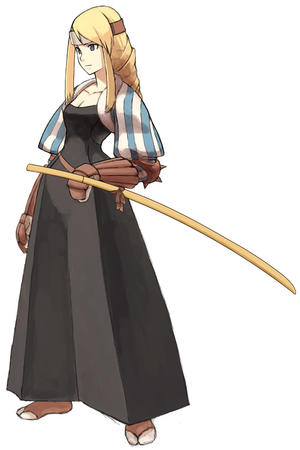 braids fft final_fantasy long_hair samurai sword // 600x900 // 81.7KB