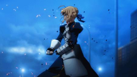 animated blonde fate green_eyes lancer sabre sword // 600x338 // 5.1MB