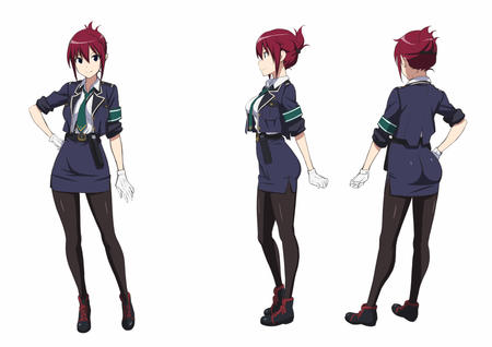blue_eyes composite gloves jacket necktie rail_wars redhead sakurai_aoi short_skirt skirt uniform // 1200x848 // 172.7KB