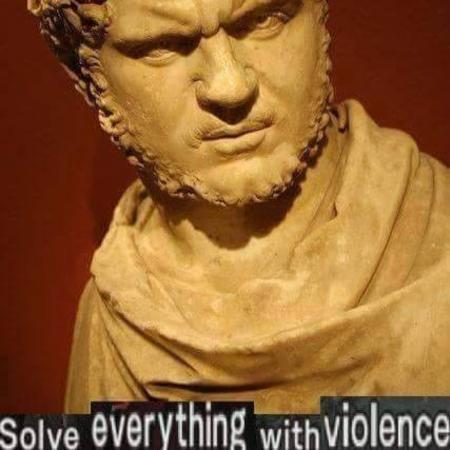 beard caracolla marble reaction rome statue violence // 427x427 // 39.6KB