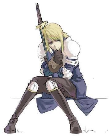 agrias blonde boots fft final_fantasy gauntlets pauldrons sword // 635x787 // 60.2KB