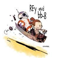 bb-8 brian_kesinger calvin_and_hobbes rey star_wars // 3000x3000 // 3.0MB