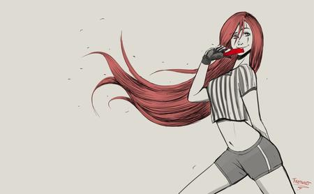 gloves league_of_legends long_hair redhead shorts soccer trebuxet // 1134x700 // 54.8KB