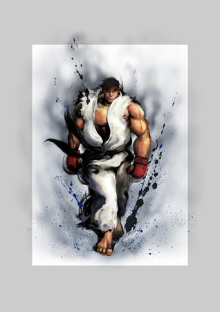 barefoot gi gloves headband ryu sfiv street_fighter // 4096x5793 // 6.6MB