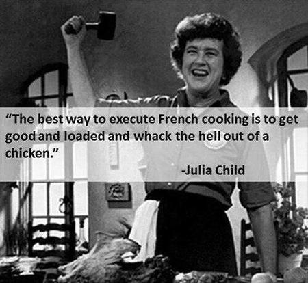 awesome bw julia_child photo quote // 500x460 // 44.2KB