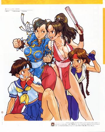 artbook capcom chun-li high_res king_of_fighters mai_shiranui sakura street_fighter // 2000x2508 // 731.8KB