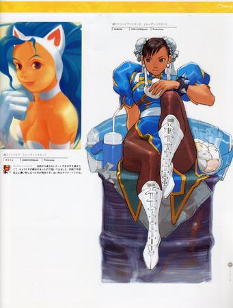 artbook capcom chun-li dark_stalkers felicia high_res street_fighter // 2000x2636 // 702.0KB