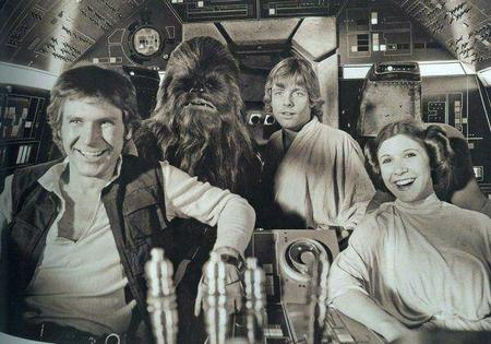 bw chewbacca han_solo luke_skywalker photo princess_leia star_wars // 600x420 // 55.2KB