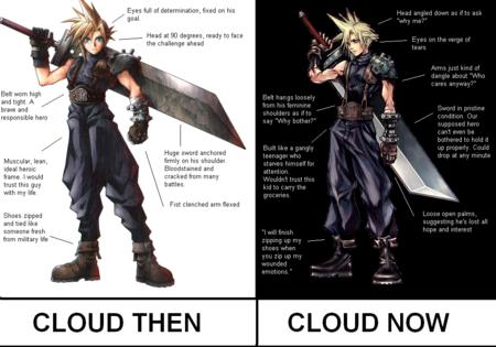 blonde blue_eyes boots cloud_strife composite ffvii final_fantasy gloves oversized_weapon sword // 1010x707 // 588.9KB