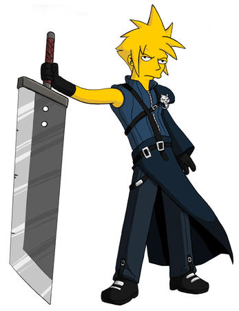 advent_children cloud ffvii final_fantasy gloves groenig simpsons sword // 716x928 // 234.9KB