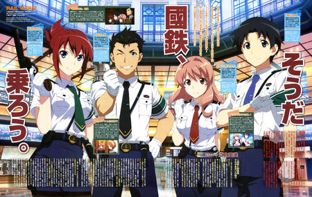 group gun magazine necktie rail_wars redhead revolver sakurai_aoi short_skirt skirt uniform // 6467x4098 // 4.3MB