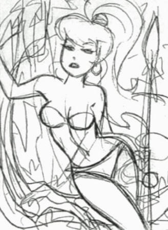 barbarian bare_shoulders bruce_timm bw ponytail sheena sketch spear // 306x420 // 41.2KB