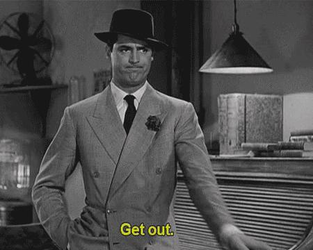 animated bw cary_grant get_out hat necktie reaction suit // 474x379 // 471.0KB