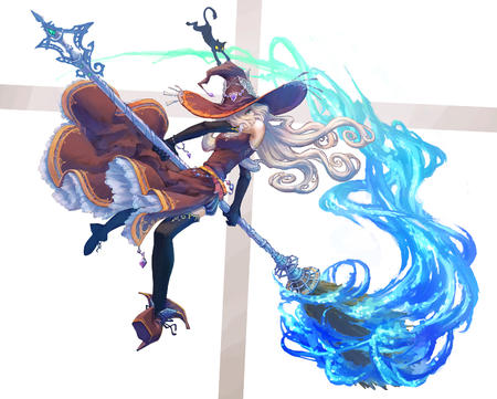 broom cat dress gloves hat high_heels thighhighs witch // 1500x1204 // 953.8KB