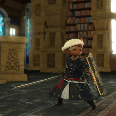 Adelina_Wyght FFXIV hat lalafell paladin screenshot shield sword // 600x600 // 67.6KB