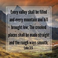 bible luke mountain quote smooth straight valley // 540x539 // 119.8KB