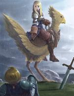 agrias armor blonde boots chocobo fft final_fantasy gauntlets ramza // 588x767 // 504.2KB