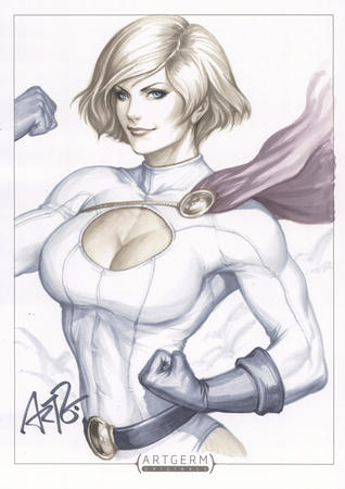 blonde blue_eyes cape cleavage dc gloves power_girl // 706x1000 // 199.0KB