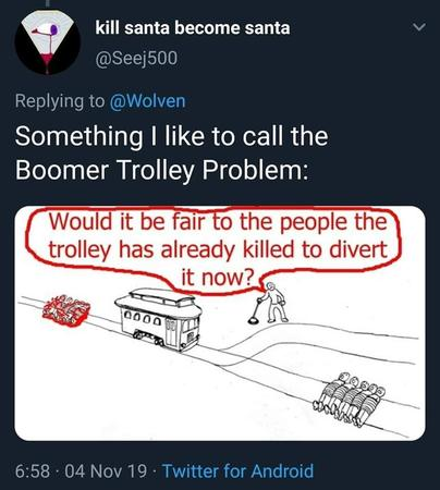 boomer trolley trolley_problem // 862x960 // 84.4KB