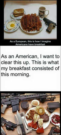 america bacon composite gun humor lobster photo // 338x750 // 90.6KB