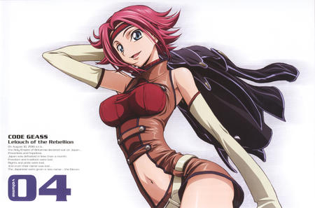 code_geass headband high_res jacket jumpsuit kallen redhead short_shorts shorts // 1500x990 // 926.5KB