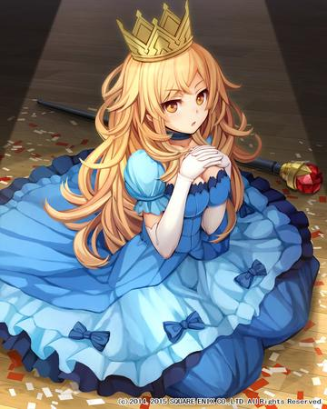 blonde cleavage crown dress gloves gown long_hair oppai // 1800x2250 // 790.8KB